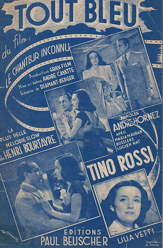 Tino Rossi   Henri Bourtayre   Tout Bleu   Chanson