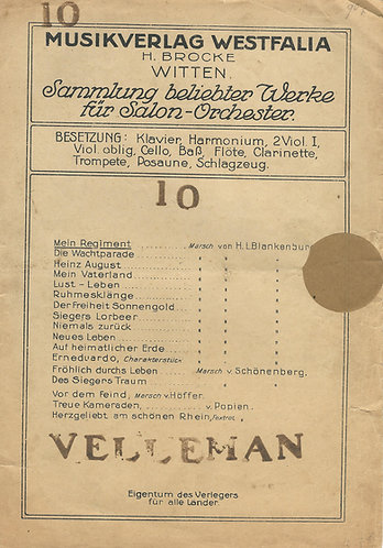 H.L. Blankenburg   Mein Regiment   Opus 102   Piano