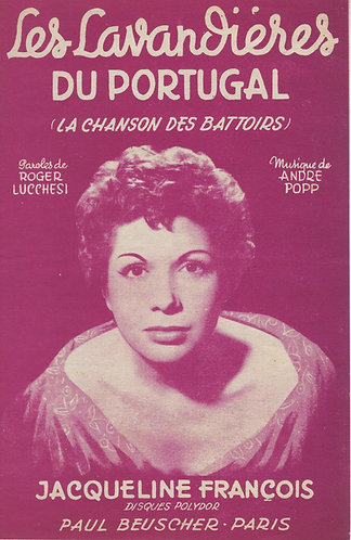 Jacqueline Francois   Andre Popp   Les Lavandieres du Portugal   Chanson