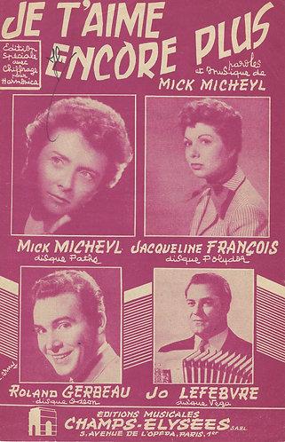 Mick Micheyl | Jacqueline Francois | Je t'aime encore plus | Vocals
