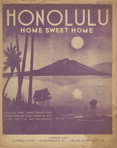 James Stanley Royce | F.W. van der Sloot | Honolulu | Piano | Vocals
