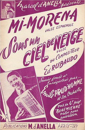 Ed. Rubaudo | Emile Prud'homme | Sous un ciel de neige | Piano