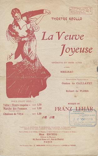 Franz Lehar | La Veuve Joyeuse | Chanson