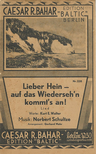 Norbert Schulze | Lieber Hein - auf das Wiederseh'n kommt's an | Piano