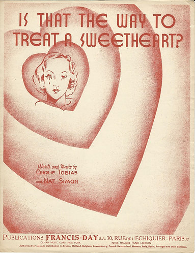Charlie Tobias   Nat Simon   Is that the way to treat a sweetheart   Piano