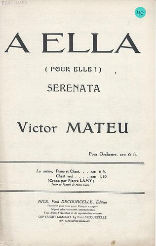 Victor Mateu   A Ella   Piano   Vocals