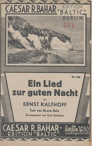 Ernst Kalthoff | Karl Buchholz | Ein Lied zur guten Nacht | Piano