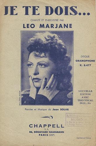 Leo Marjane | Jean Solar | Je te dois | Vocals