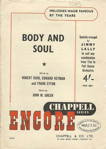 John. W. Green | Body and Soul | Piano | Vocals