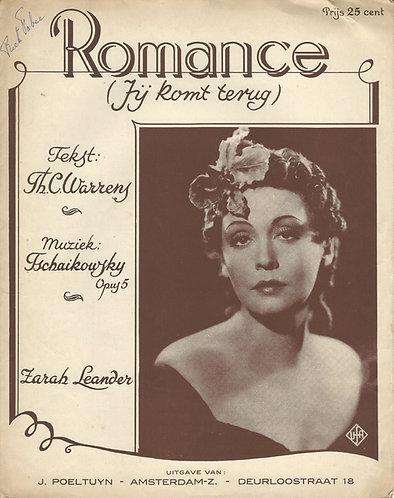 Tschaikowski | Zarah Leander | Romance Opus 5. | Piano | Vocals
