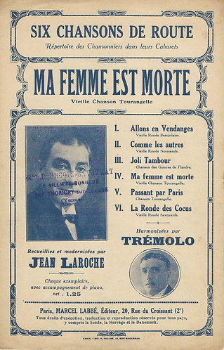 Jean Laroche | Tremolo | Ma femme est morte | Piano | Vocals