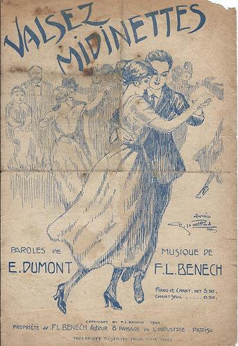 F.L. Benech | E. Dumont | Valsez Midinettes | Chanson