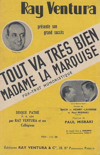 Paul Misraki | Tout va tres bien madame la marquise | Chanson
