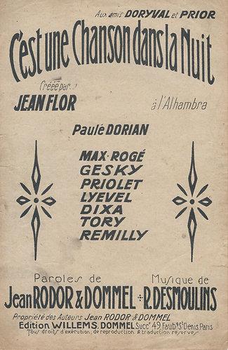 R. Desmoulins   Jean Flor   C'est une Chanson dans la Nuit