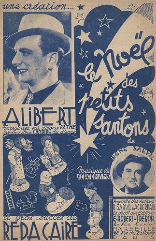 Alibert | Reda Caire | H. Ackermans | Le Noel des petits Santons | Chanson