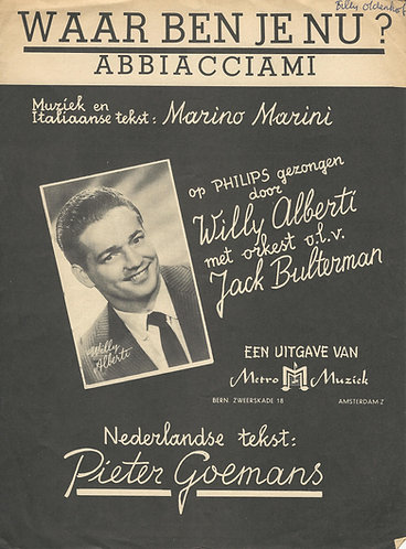 Marino Marini | Willy Alberti | Jack Bulterman | Abbiacciami | Piano | Vocals