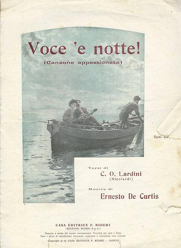 Ernesto de Curtis | Voce 'e notte | Piano | Vocals