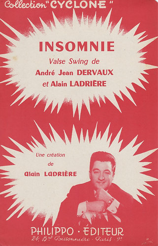 A.J. Dervaux | A. Ladriere | Insomnie | Piano | Accordeon