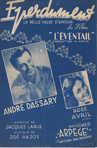 Andre Dassary | Rose Avril | Joe Hajos | Eperdument | Chanson