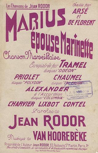 Van Hoorebeeke | Jean Rodor | Marius epouse Marinette | Chanson