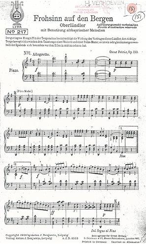Oscar Petras | Frohsinn auf den Bergen | Piano