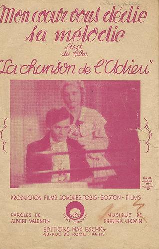 Frederic Chopin | Mon coeur vous dedie sa melodie |Le Chanson de l'Adieu |Vocals