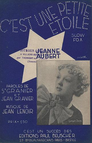 Jeanne Aubert | Jean Lenoir | C'est une petite etoile | Chanson