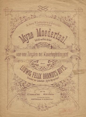 Ludwig F.B. Buys | Frans de Cort | Mijne Moedertaal 1 | Piano | Vocals