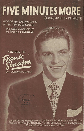 Frank Sinatra | Jule Styne | Five minutes more | Piano | Vocals