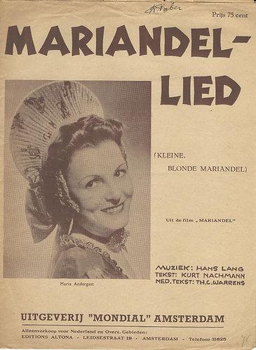 Hans Lang | Mariandl Lied | Kleine blonde Mariandel | Piano | Vocals