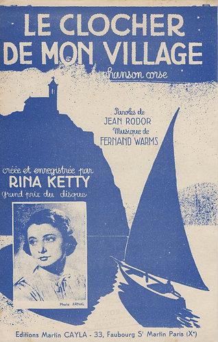Rina Ketty | Fernand Warms | Le Clocher de mon Village  | Chanson
