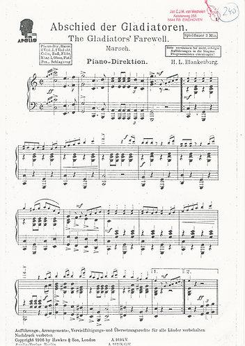 H.L. Blankenburg | Abschied der Gladiatoren | Piano