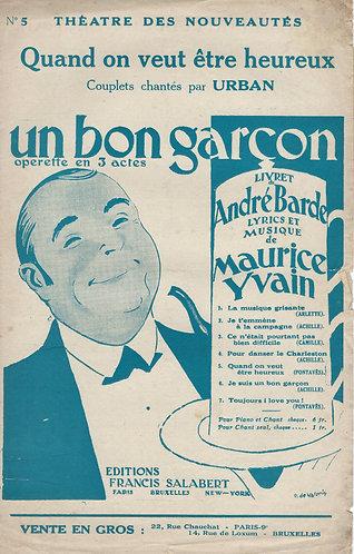 Maurice Yvain | Urban | Quand on veut etre heureux | Chanson