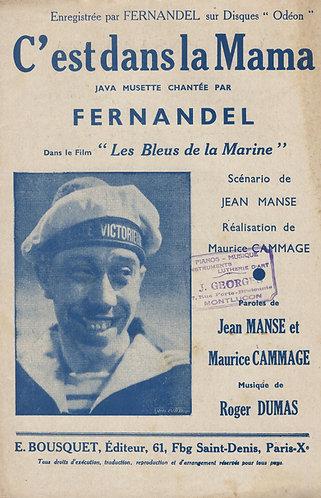 Fernandel | Roger Dumas | C'est dans la Mama | Chant | Accordion