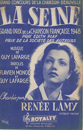 Renee Lamy | Guy Lafarge | La Seine | Chanson