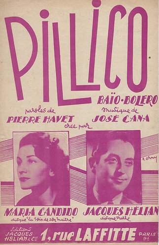 Maria Candido | Jose Cana | Pillico | Chanson
