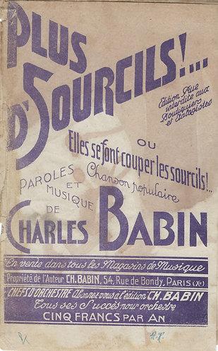 Charles Babin | Plus d'Sourcils  | Orchestra