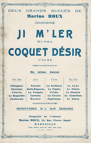Marius Roux | Coquet Desir  | Orchestra