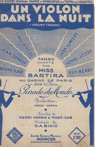 Tino Rossi | Jean Lumiere | Guy Berry | C.A. Bixio | Un violon dans la nuit