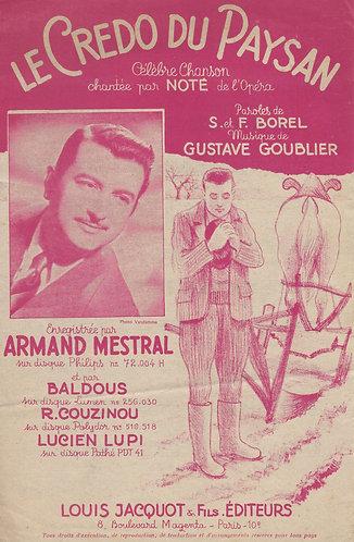 Gustave Goublier   Le Credo du Paysan   Chanson