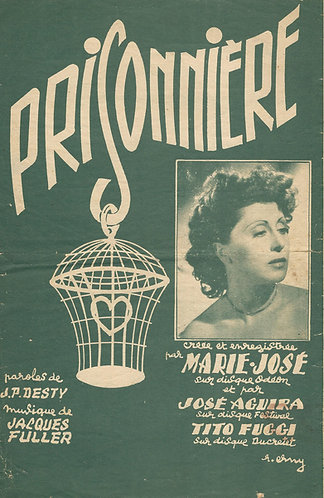 Jacques Fuller   Marie Jose   Prisonniere   Vocals