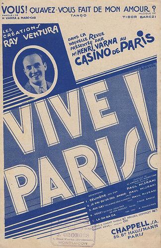 Tibor Barczi | Vive Paris | Chanson