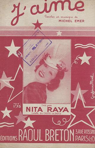 Nita Raya | Michel Emer | J'aime | Chanson