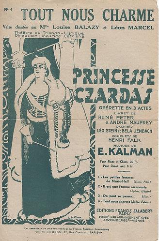 Emmerich Kalman   Princesse Czardas   Tout Nous Charme   Chant