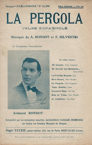 Armand Rondot | F. Silvestri | La Pergola | Piano | Accordion