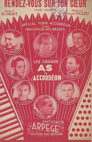 Emile Prud'homme   Edouard Duleu   Rendez Vous Sur Ton   Accordion   Piano