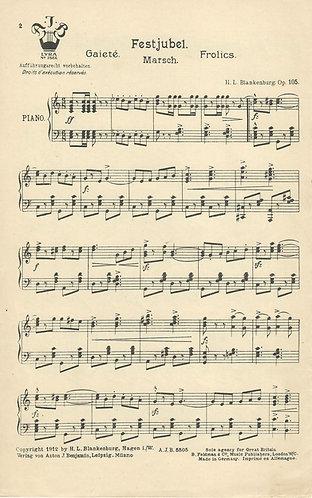 H.L. Blankenburg | Festjubel | Piano
