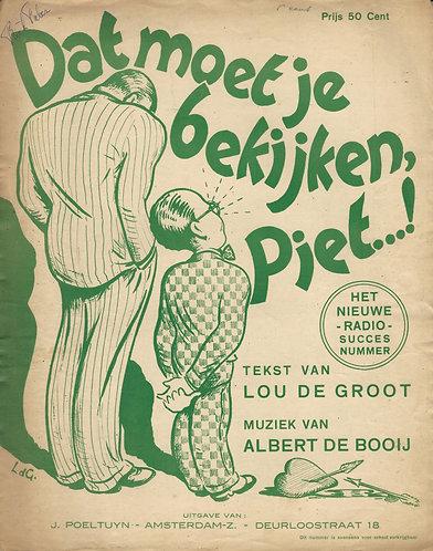 Albert de Booij | Dat moet je bekijken Piet | Piano | Vocals