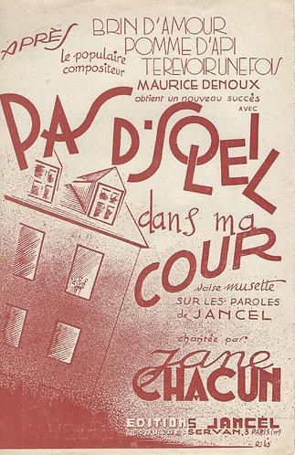 Maurice Denoux   Pas de soleil dans ma cour   Orchestra