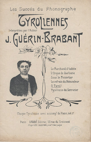 J. Guerin-Brabant   O Tyrol!   Chanson